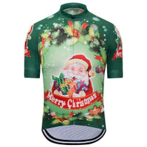 cca900f55 Christmas Holly Santa Green Cycling Jersey ...