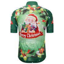 c76be6221 Christmas Holly Santa Green Cycling Jersey Christmas Holly Santa Green Cycling  Jersey