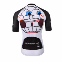Crazy Emoji White Cycling Jersey
