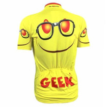 Geek Emoji  Yellow Cycling Jersey