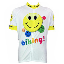Happy Biking Colorful Emoji Cycling Jersey