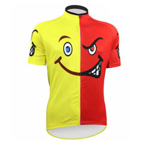 Honest Emoji Yellow Red Cycling Jersey