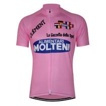 Italia 1972 Retro Molteni Pink cycling jersey