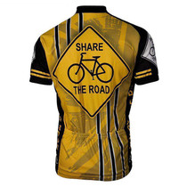 Yellow Share The Road Men's Cycling Jersey