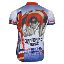 Retro 1935 World Championship Du Monde Retro Art Poster Cycling Jersey
