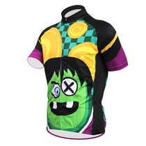 2018 New Cartoon funny Men's cycling jersey