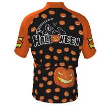 Happy Halloween Cycling Jersey Black Orange
