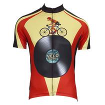 Riding Bike Cartoon Velo Records Cycling Jersey