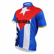 Che Guevara Short Sleeve Cycling Jersey Blue Red