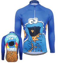 Cookie Power Cookie Monster Long Sleeve Cycling Jersey
