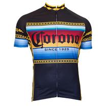 Retro Corona Beer Blue White Cycling Jersey