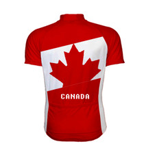 Canada Maple leaf  Cycling Jersey White Red