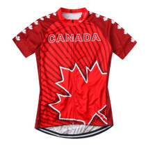 Canada Maple Leaf Cycling Jersey Red 2