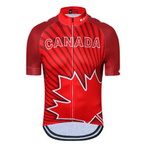 Canada Maple Leaf Cycling Jersey Red 1