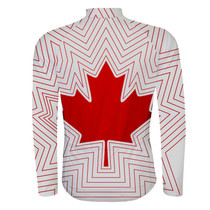 Canada Maple Leaf Long sleeve Cycling Jersey White