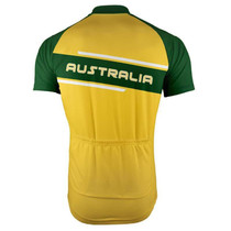 Australia Green Gold Stripe Men's Cycling Jersey