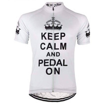 Keep Calm and Pedal On Cycling Jersey