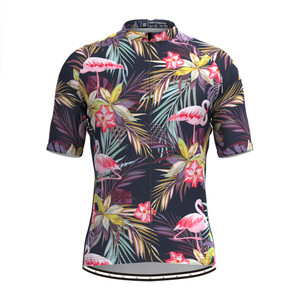Men's Tropical & Floral Print Hawaiian Cycling Jersey