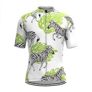 Men's Zebra Print Aloha Hawaiian Cycling Jersey