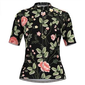 Women's Aloha Floral Print Hawaiian Cycling Jersey