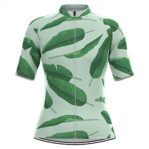 Women's Banana leaf Print Hawaiian Cycling Jersey