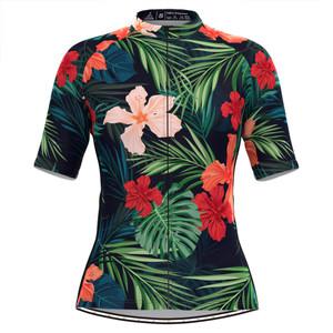 Women's Classic Tropical & Floral Print Hawaiian Cycling Jersey