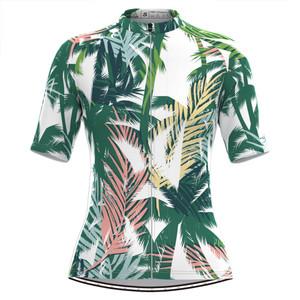 Women's Coconut Tree Print Aloha Hawaiian Cycling Jersey