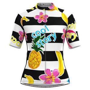 Women's Stripe Print Aloha Hawaiian Cycling Jersey