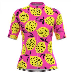 Women's The Yellow Lemon Print Cycling Jersey