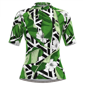 Women's Tropical & Floral Print Aloha Hawaiian Cycling Jersey