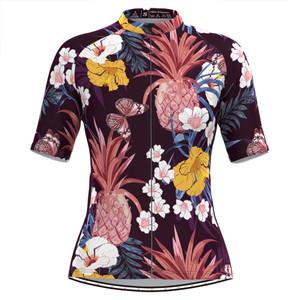 Women's Tropical & Floral Print Hawaiian Jersey -Pineapple