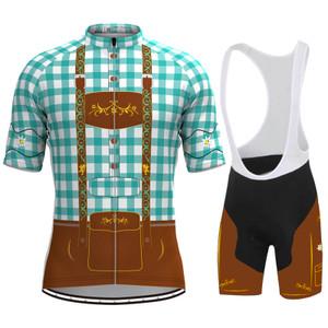 Men's Tirolese Cycling Kit Blue-Green