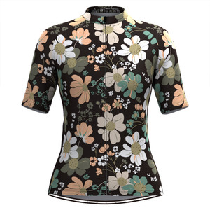 Women's Floral Cycling Jersey