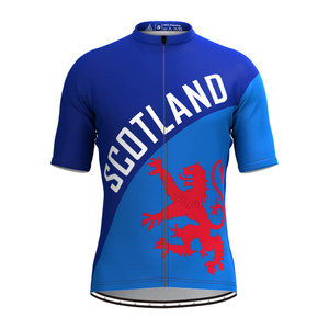 Men's Scotland Flag Cycling Jersey Red-Blue