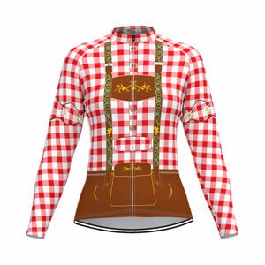 Tirolese Women's Long Sleeve Cycling jersey Red