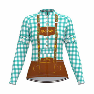 Tirolese Women's Long Sleeve Cycling jersey Blue-Green