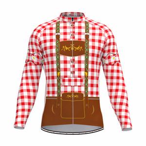 Tirolese Men's Long Sleeve Cycling jersey Red