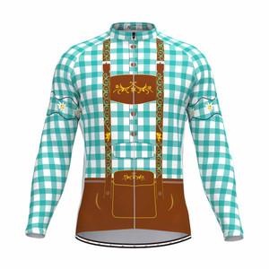 Tirolese Men's Long Sleeve Cycling jersey Blue-Green