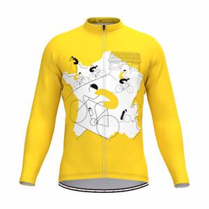 Men's Tour De France Classic Color LS Jersey Yellow