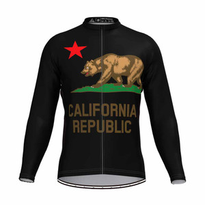 The California Republic Men's LS Cycling Jersey Black