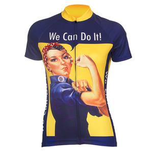 Womens We Can Do It Pro Cycling Jerseys Yellow