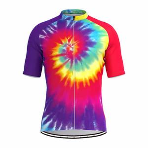 Tie Dye Rainbow Men's Cycling Jersey