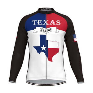 The Texas State Men's LS Cycling Jersey