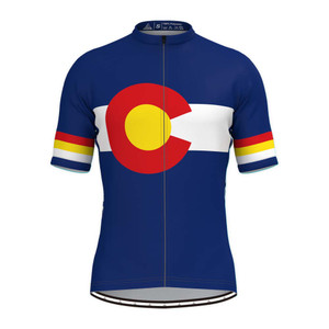 Colorado State Flag Men's Cycling Jersey