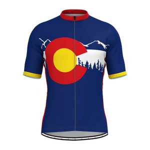 Colorado State Flag Adventure Men's Cycling Jersey