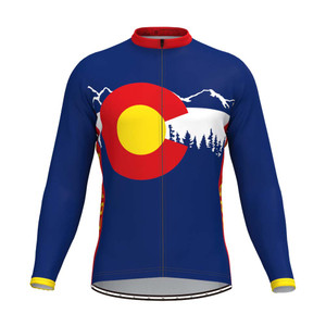 Colorado State Flag Adventure Men's LS Cycling Jersey