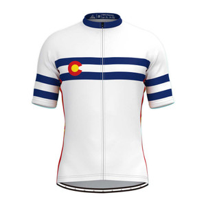 Colorado State Flag Men's  Cycling Jersey White