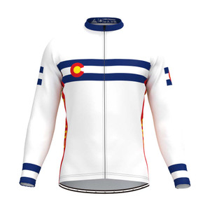 Colorado State Flag Men's LS Cycling Jersey White
