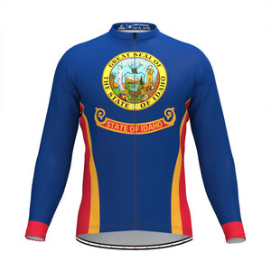The Idaho State Flag Men's LS Cycling Jersey