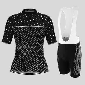 Women's Black Pro Team Racing Cycling Kit